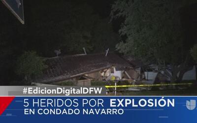 Una explosión deja cinco heridos en el condado Navarro