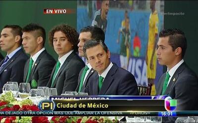 El presidente Enrique Peña Nieto recibió al TRI
