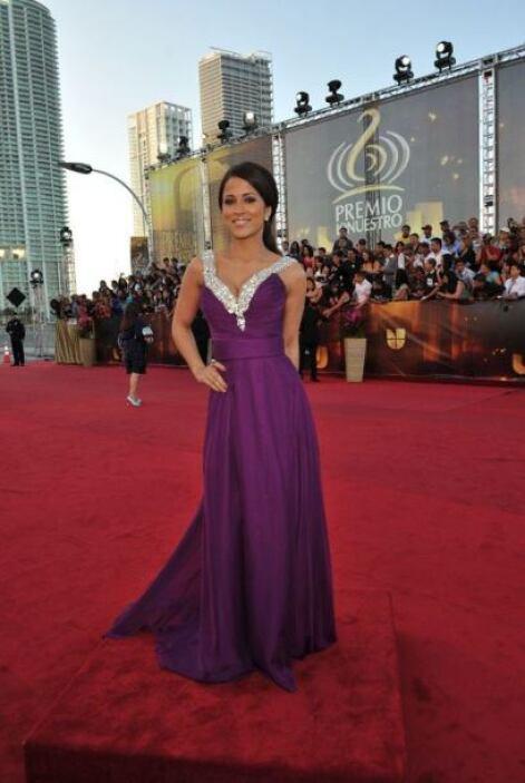 El color tan intenso de Jackie Guerrido nos puso a sus pies en 2011.
