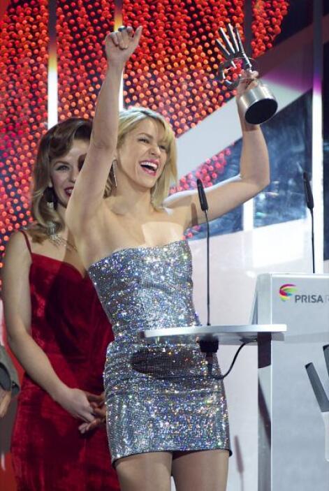 Shakira resultó ganadora de los premios Artista Latino más Influyente y...