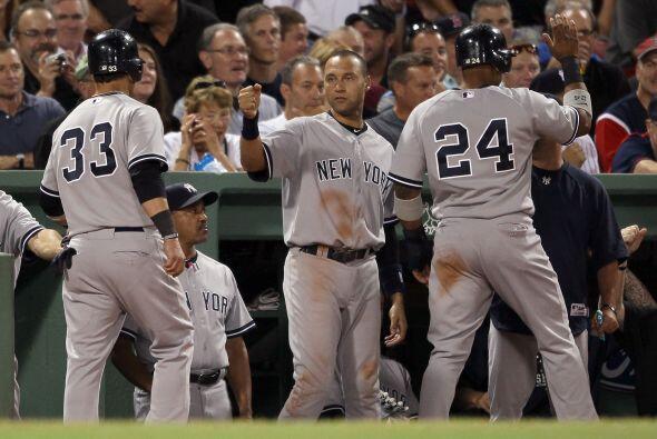 Los Yankees se pondrían arriba en la alta de la sexta 5-4.