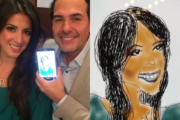 Carlos Calderón resultó todo un artista. ¿Qué tal la caricatura de nuest...