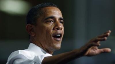 El presidente de EU Barack Obama pidió a la Cámara de Representantes que...
