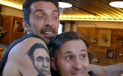 Buffon se 'tatuó' el rostro de un fan