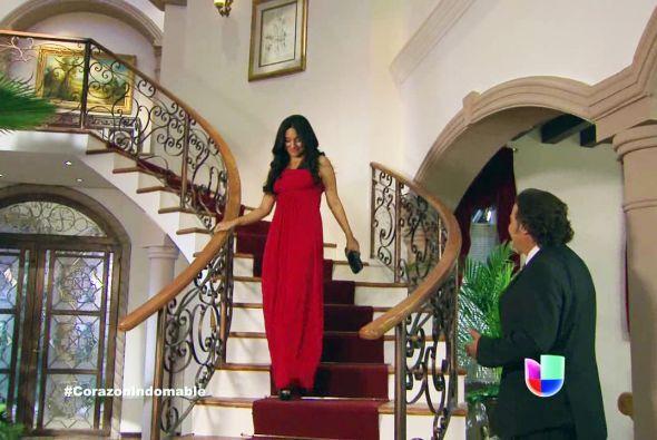 Cuando la vimos bajar por las escaleras no podíamos creer lo que veíamos.