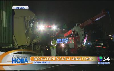Aparatoso accidente paraliza la autopista 710