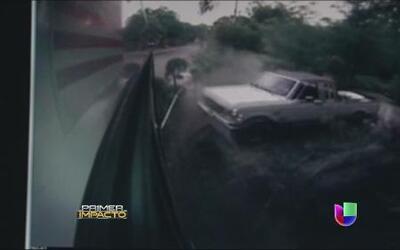Aparatoso accidente en cadena en las imágenes de impacto