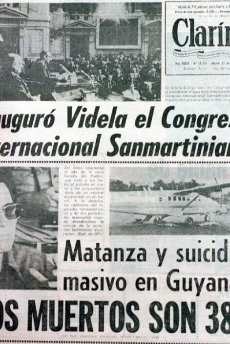 Fue así que el 18 de noviembre de 1978, más de 900 personas se quitaron...