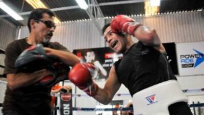 Hernán 'Tyson' Märquez se ve fuerte para su regreso al ring.