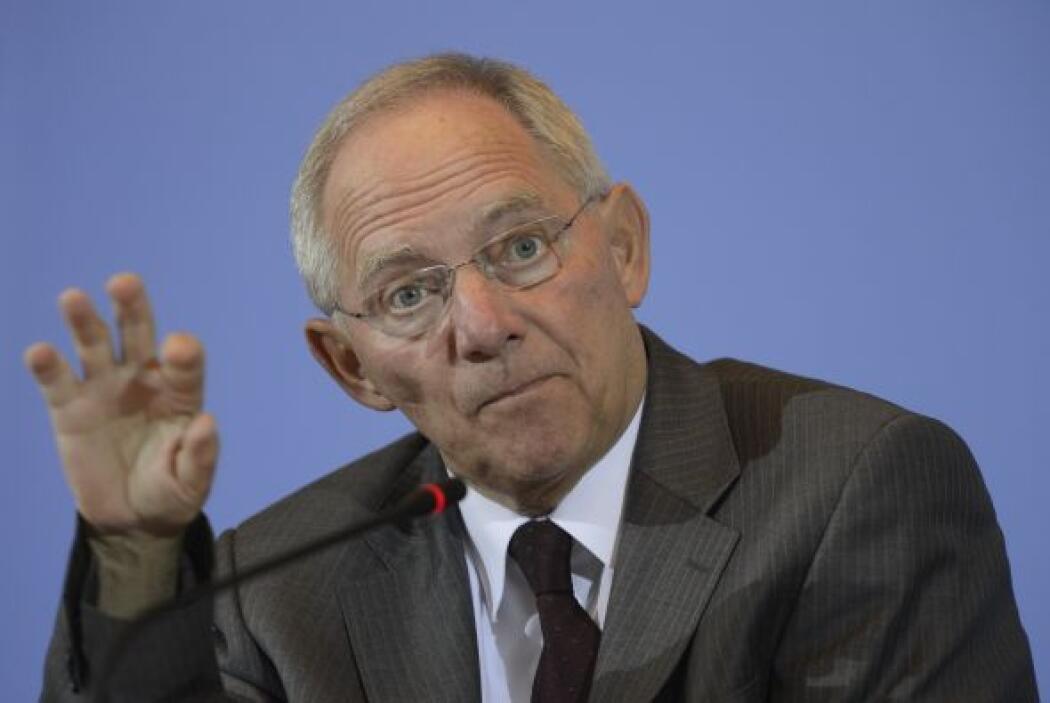 ALEMANIA- El ministro de Finanzas alemán, Wolfgang Schaeuble, afirmó que...