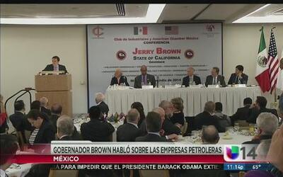 Jerry Brown termina su gira en México