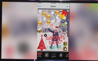 Christmas es la aplicación que permite tomar fotos grupales con filtros...