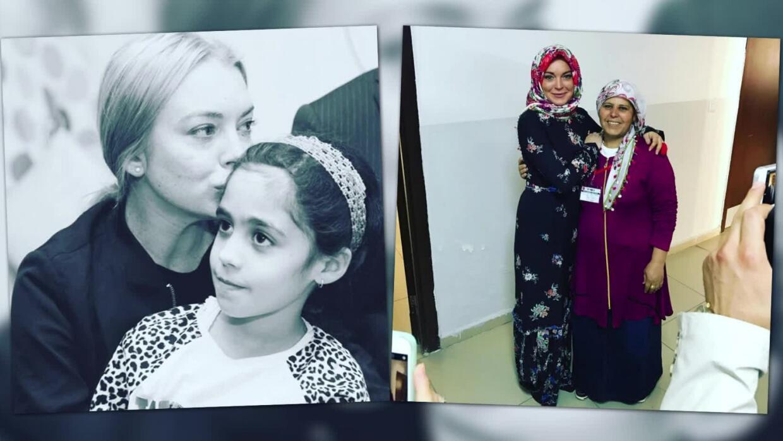 Lindsay Lohan planea donar bebidas energizantes a refugiados sirios