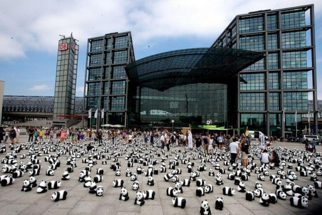Los pandas de WWF, en la ciudad de Berlín. (Foto: WWF Alemania)