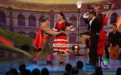 Baile flamenco de los jueces y las chicas junto a Curro de Candela en Nu...