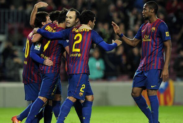 Era fiesta en el Camp Nou con un Barcelona de lujo.