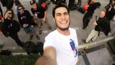 Jonathan Florez compartió en su cuenta de Twitter esta imagen de su lleg...