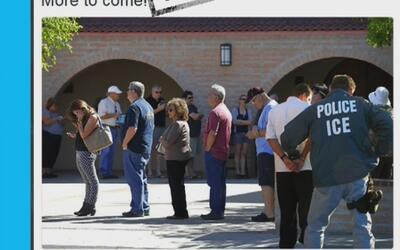 Buscan intimidar a hispanos con la imagen de un falso arresto en una fil...