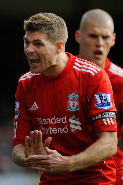 El capitán del Liverpool, Steven Gerrard, le pedía a sus c...