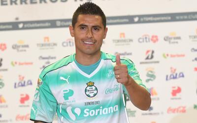 Osvaldo Martínez fue presentado con Santos Laguna