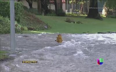 Severa inundación y graves daños en la UCLA