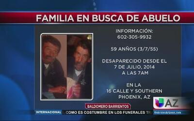 Desesperada familia busca a abuelo