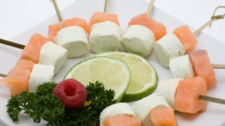 Estaciones refrescantes hechas a base de mariscos, pescados y vegetales.