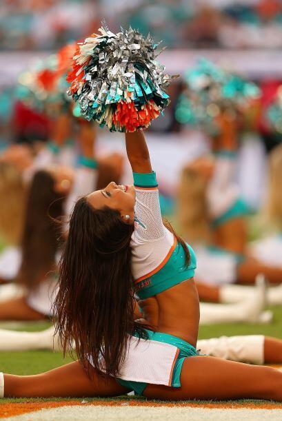 La belleza del partido, las cheerladers de Miami.