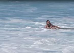 Imagen del rescate. Tomada del video de Youtube.