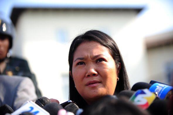La hija del ex presidente Alberto Fujimori, Keiko Fujimori, acort&oacute...
