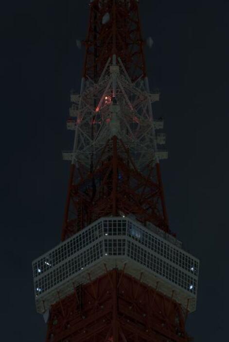 Así lucía la Torre de Tokio mientras fue apagada.