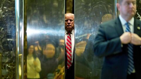 Imagen de archivo del presidente Donald Trump en enero pasado, en la Tor...