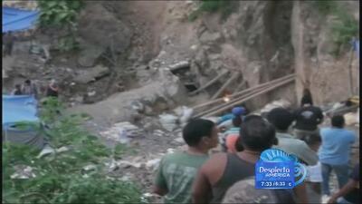 Mineros atrapados en Honduras tras un derrumbe