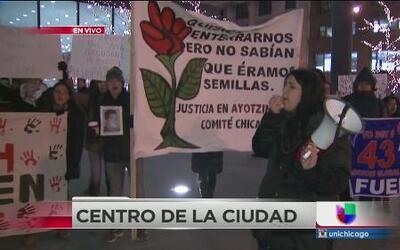 Protestas por Ayotzinapa en Chicago