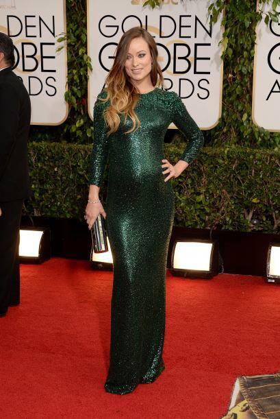 Muchas embarazadas en esta alfombra roja, otra de ellas fue Olivia Wilde...