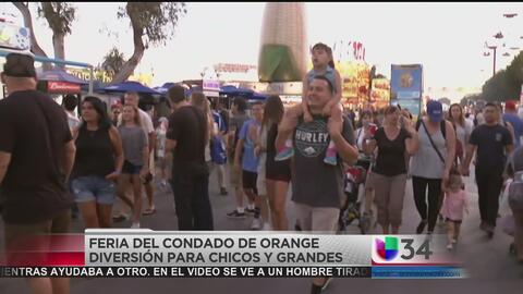 Juegos, antojitos y entretenimiento en la feria del condado de Orange