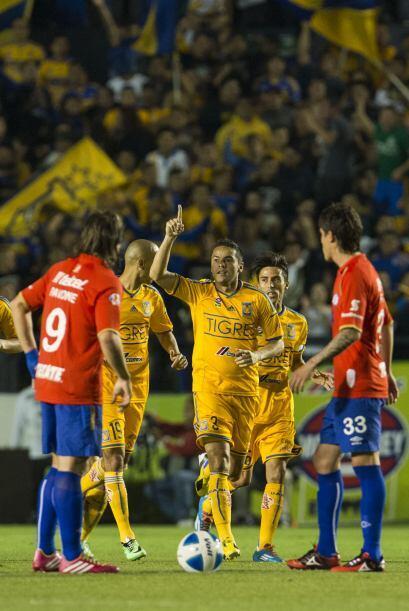El jugador felino anotó el primer gol del partido al minuto 8, recibió u...