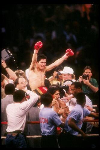 Julio César había ganado de forma dramática, en el último round noqueó a...