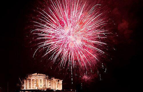Año Nuevo en Atenas, Grecia.