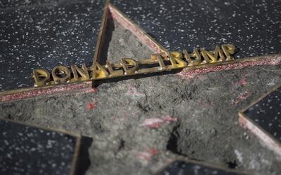 Esto fue lo que quedó de la estrella de Donald Trump en el Paseo de la F...