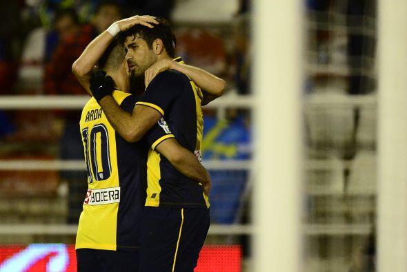 David Villa abrió el marcador para el Atlético en el minut...