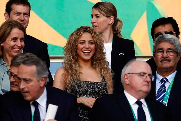 En partidos anteriores también acompañó a su Piqué y la vimos muy feliz....