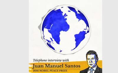 La llamada con la que el presidente Santos se enteró de su Premio Nobel...