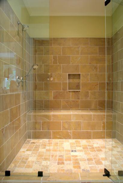 Un nicho en la ducha. A la hora de diseñar tu baño, procura armar un nic...