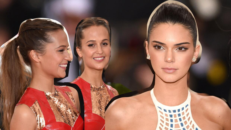 Alicia Vikander y Kendall Jenner le dieron importancia a sus pestañas.