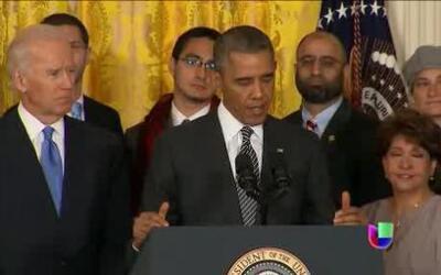 Obama hace un nuevo llamado al Congreso para que apruebe una reforma mig...