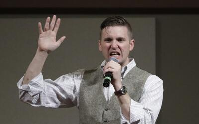 Richard Spencer habla en la Universidad Texas A&M