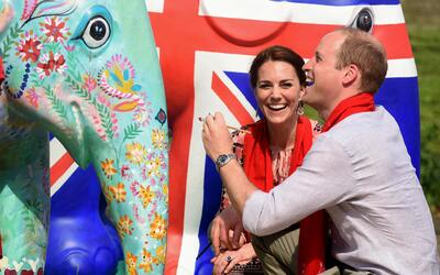 William y Kate durante su visita a India.