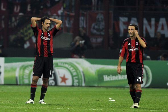 El Milan no podía creer lo sucedido y tuvo que conformarse con un...