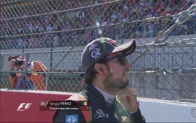 'Checo' Pérez, satisfecho tras puntuar en GP de Bélgica
